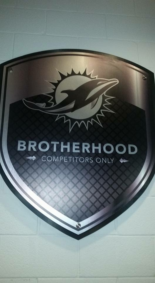 Brotherhood Only is another new Miami Dolphins slogan