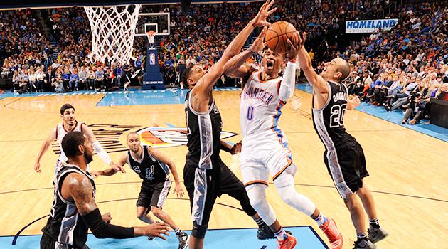 Russell Westbrook Oklahoma City Thunder San Antonio Spurs