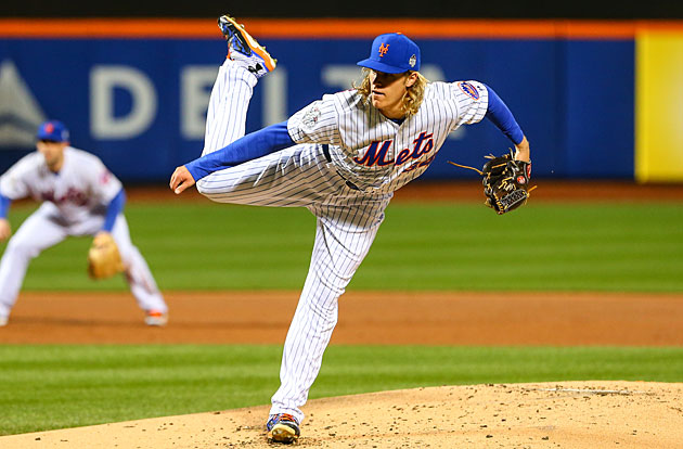Noah Syndergaard and David Wright New York Mets