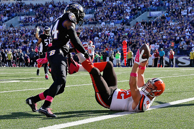 Browns tight end Gary Barnidge's amazing catch against the Ravens.