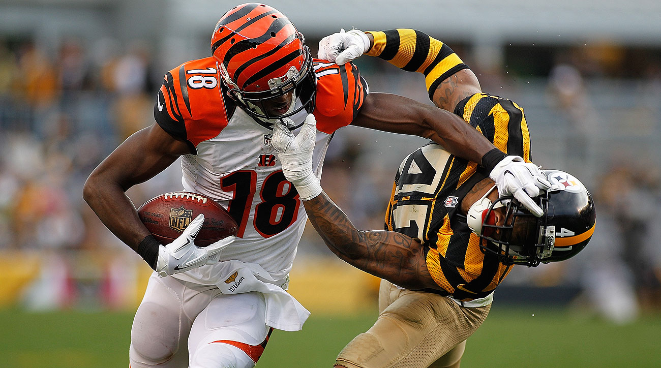 A.J. Green and the Bengals beat the Steelers to improve to 7-0.