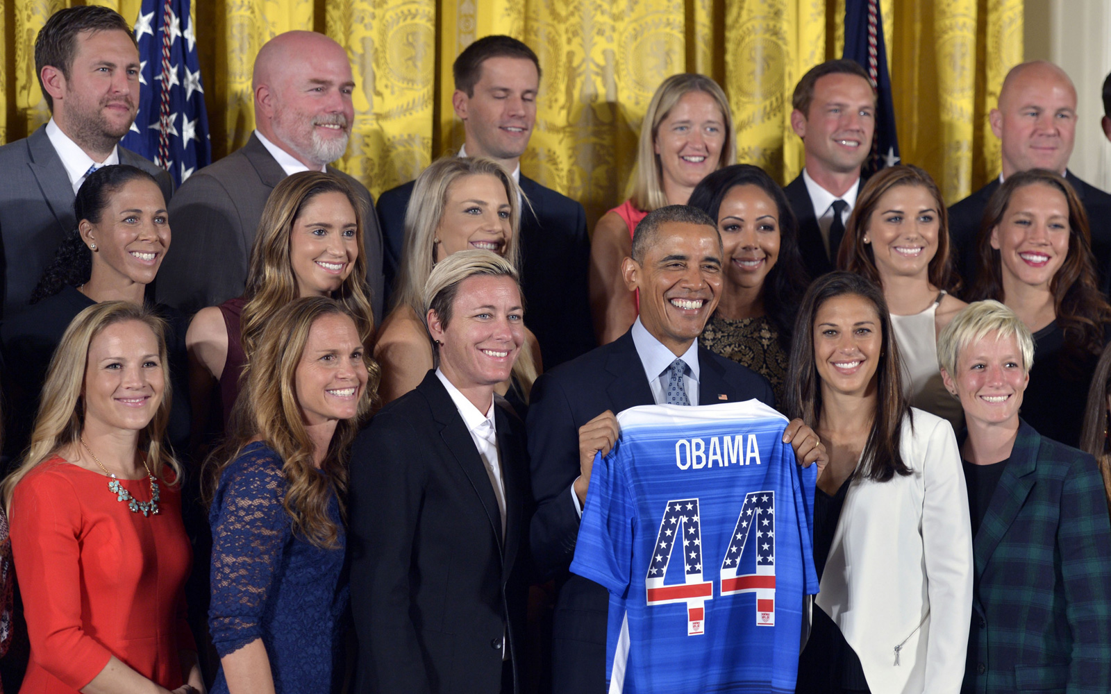 President Barack Obama welcomes the World Cup-champion USWNT to the White House, honoring their triumph in Canada.