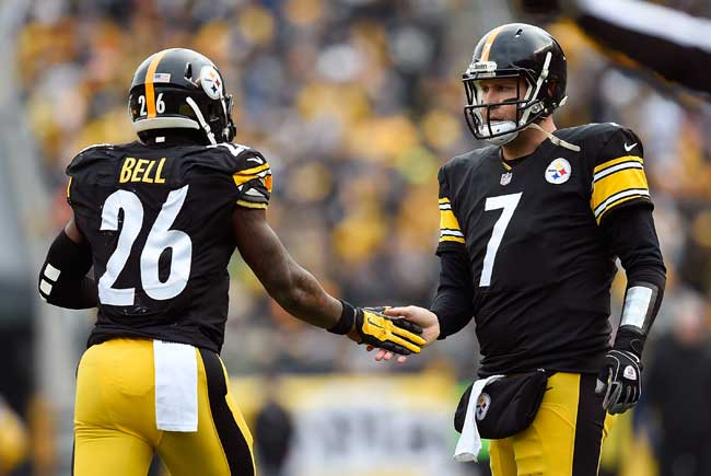 Ben Roethlisberger and Le'Veon Bell.