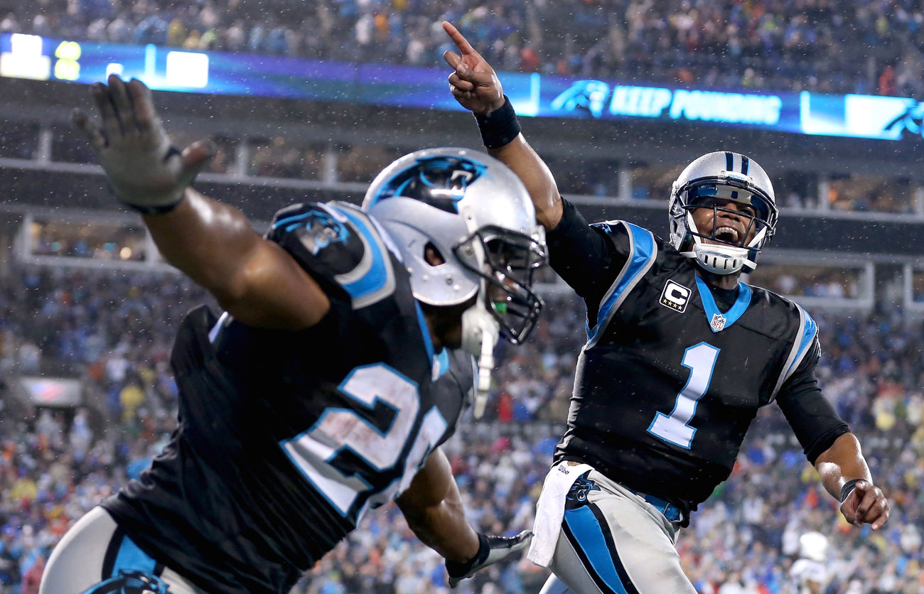 Cam Newton and the Panthers left it late against Indy but reached 7-0 for the first time in franchise history.