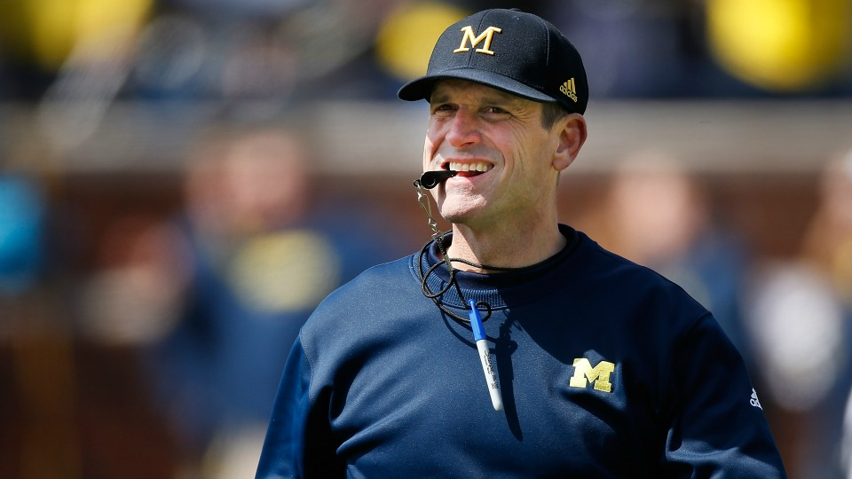 Michigan's Jim Harbaugh says sleep, milk, and steak are natural steroids`