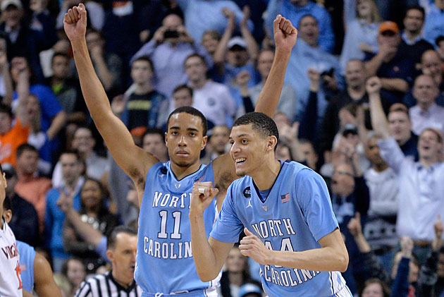 Brice Johnson and Justin Jackson North Carolina Tar Heels