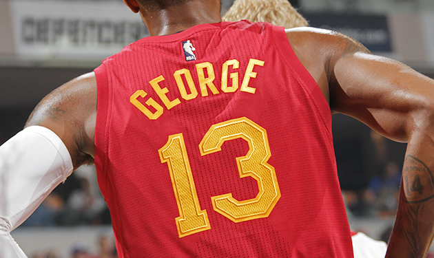 Paul George Indiana Pacers Hoosiers Hickory High uniforms