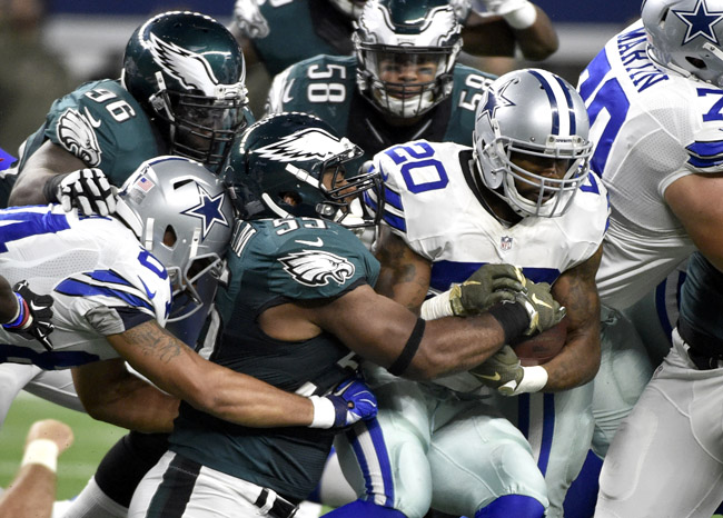 Even with Darren McFadden running well, the Cowboys' run-blocking has taken a step back since last season.