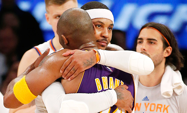 Kobe Bryant final game MSG Los Angeles Lakers New York Knicks