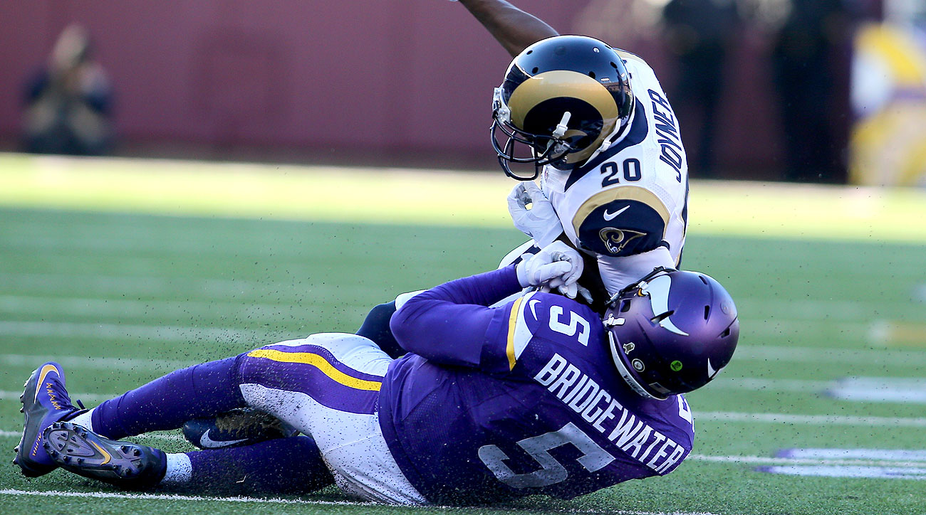 Lamarcus Joyner was penalized for this hit on a sliding Teddy Bridgewater.