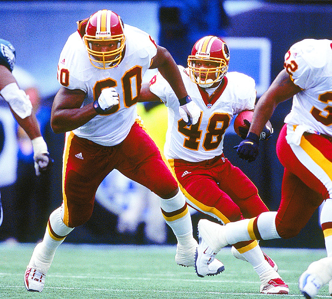 For 10 seasons, Samuels (left) was among the NFL's premier left tackles.
