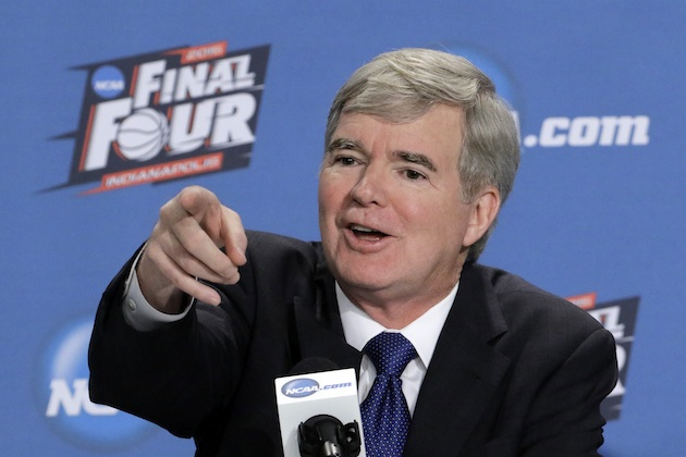 Mark Emmert, CEO of the NCAA, at a Final Four event in 2015.