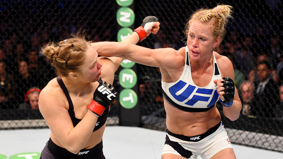 Prior to UFC 193, Ronda Rousey seemed unstoppable. Her past three fights lasted 34, 16, and 14 seconds and she became a superstar outside the Octagon. But she was no match for former champion boxer and underdog Holly Holm, who knocked her out in the second round after a vicious kick to the neck.