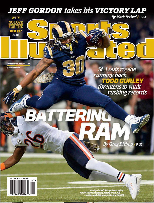 buy online cfff7 71ee1 St. Louis Rams' Todd Gurley featured on Sports Illustrated ...