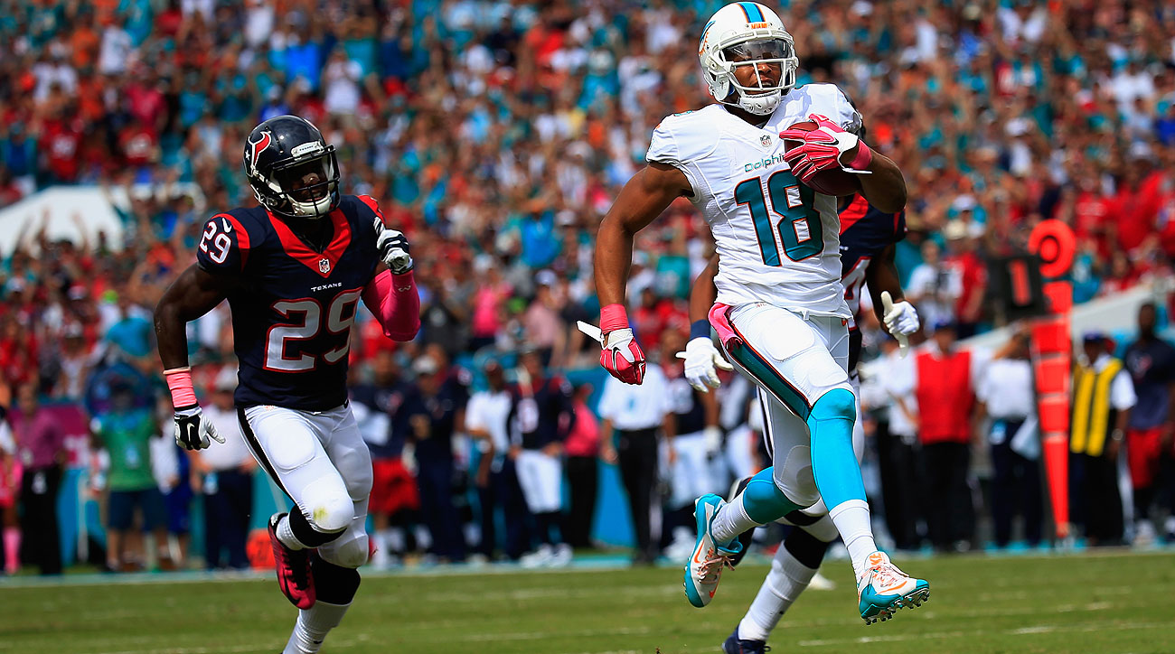 Rishard Matthews' 42 catches for the Dolphins this season is already one better than his career high in 2013.