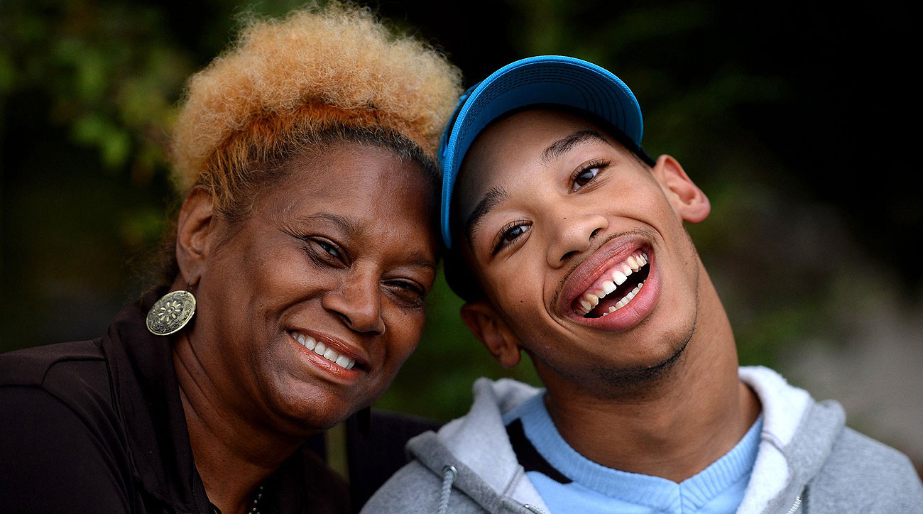 Saundra Adams is raising Chancellor Lee Adams, the son of ex-Panther Rae Carruth.