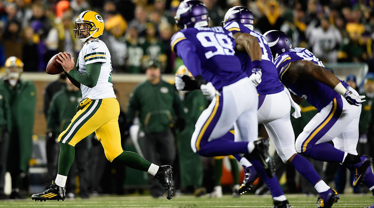 Aaron Rodgers was a step ahead of the Vikings for most of Sunday's game.