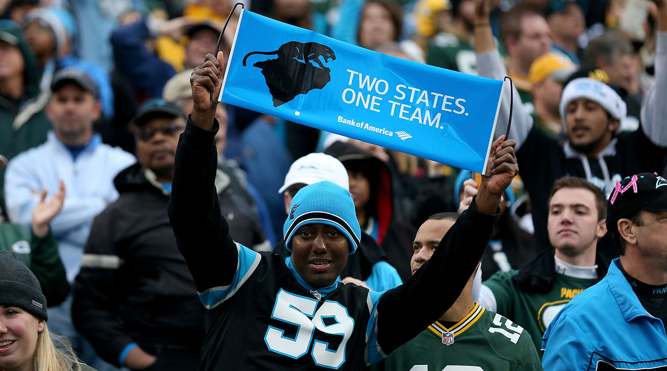 The Panthers, based in Charlotte, draw fans from throughout the Carolinas.