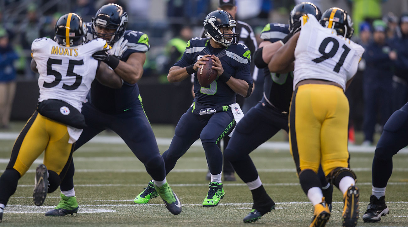 On his 27th birthday, Russell Wilson threw for 345 yards and five touchdowns.