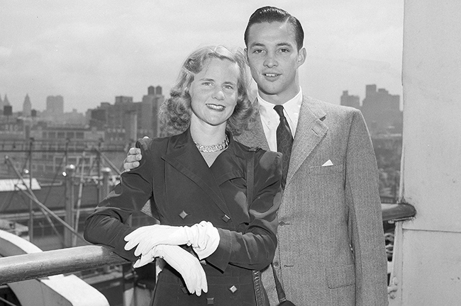 Martha Firestone and William Clay Ford, days before their wedding in 1947.