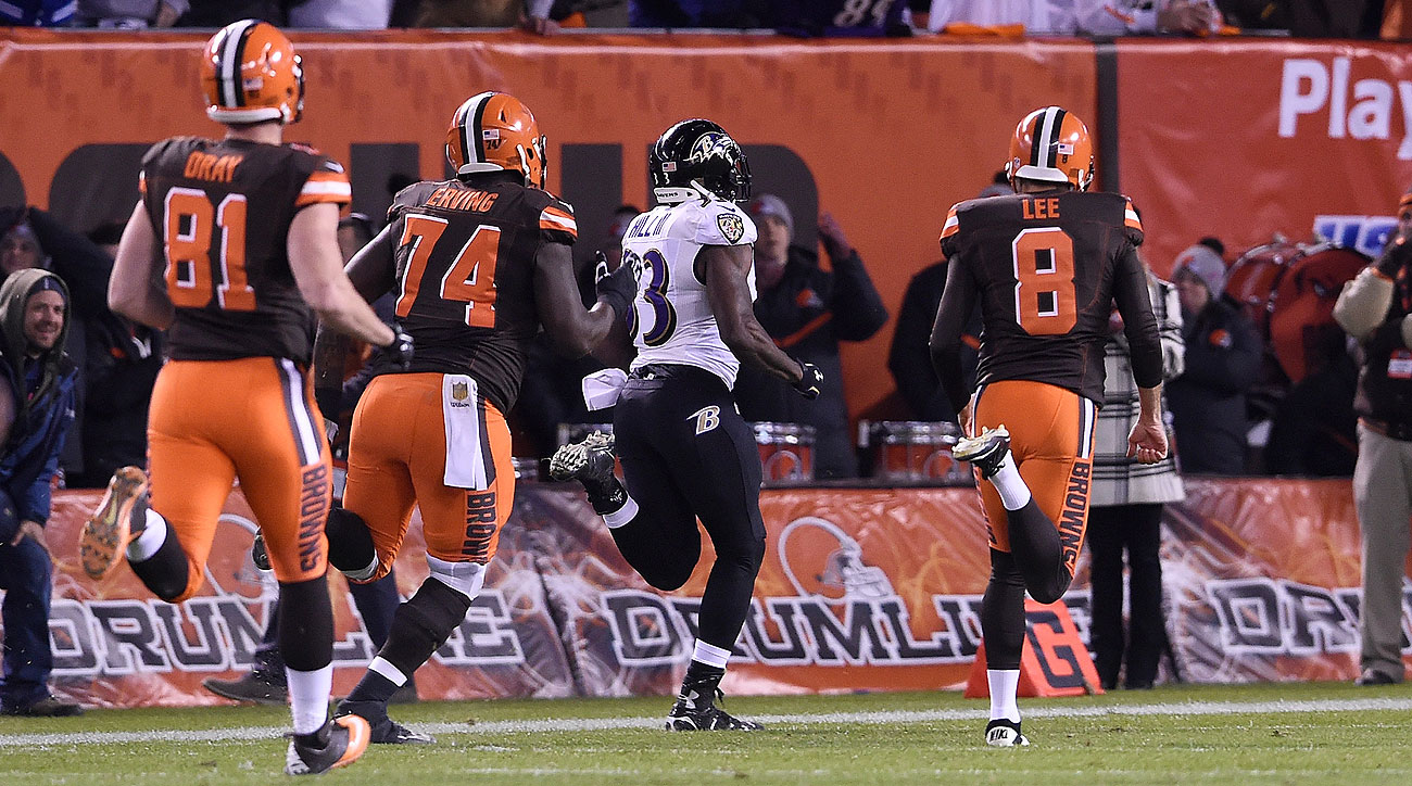 Will Hill's touchdown return of a blocked field goal is just the latest in a string of legendary losing moments in Browns history.