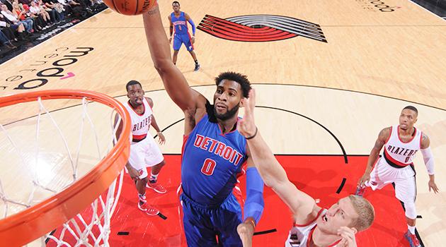 Andre Drummond Detroit Pistons Portland Trail Blazers