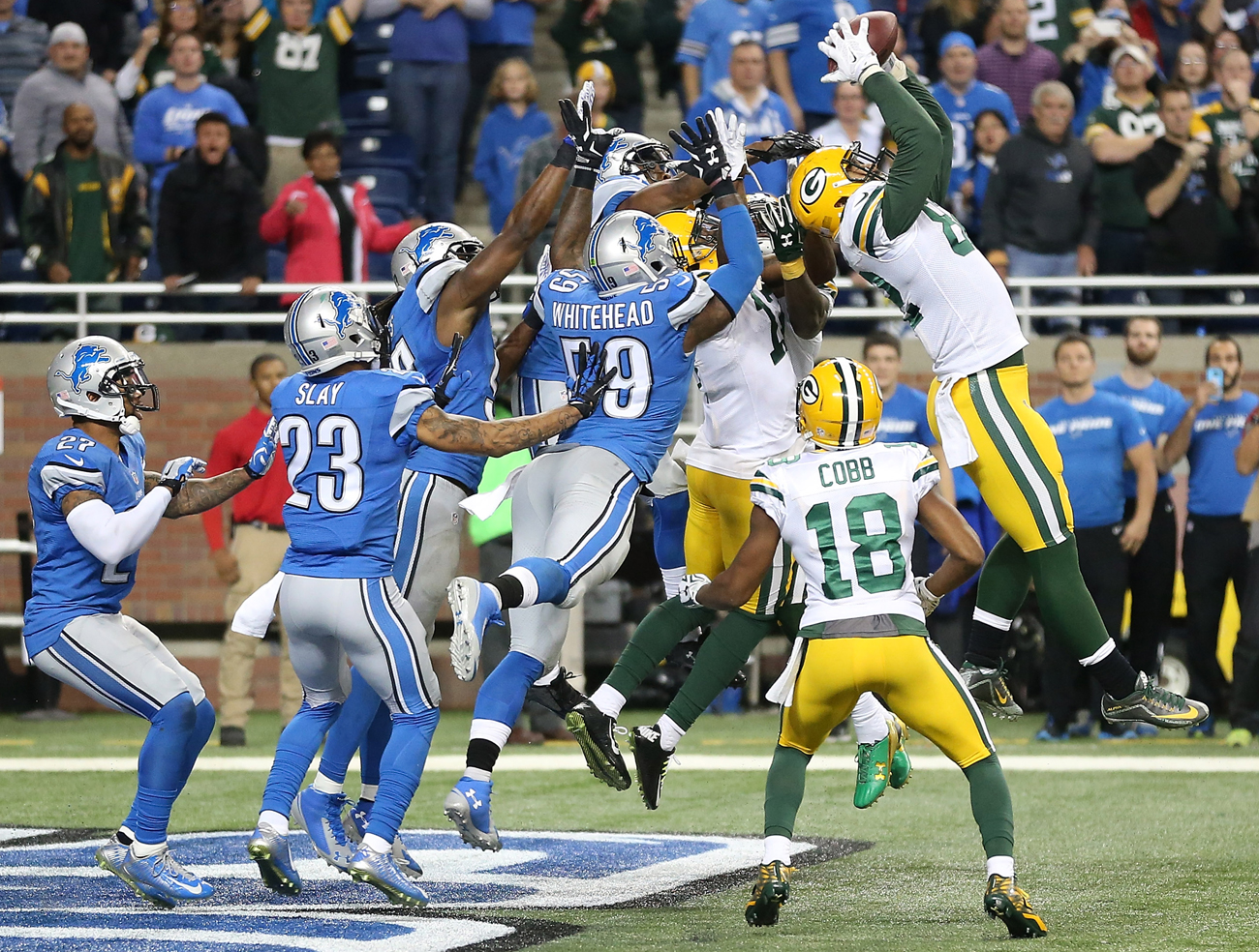 The Rodgers-to-Rodgers Hail Mary slayed the Lions.