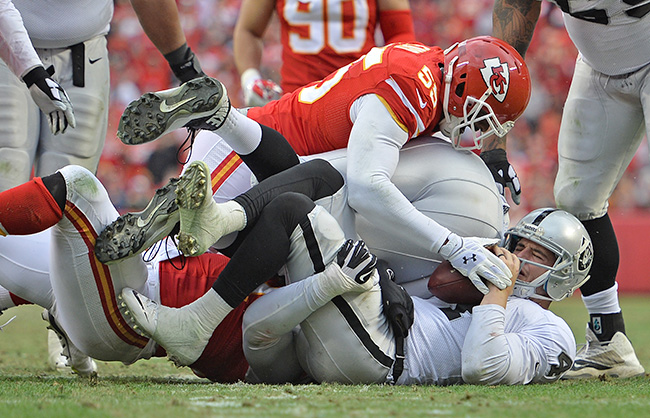 This is what you're supposed to be doing on Sunday, Dee Ford.