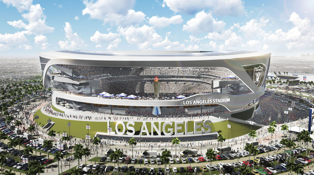 A rendering of the NFL stadium project in Carson, Calif.