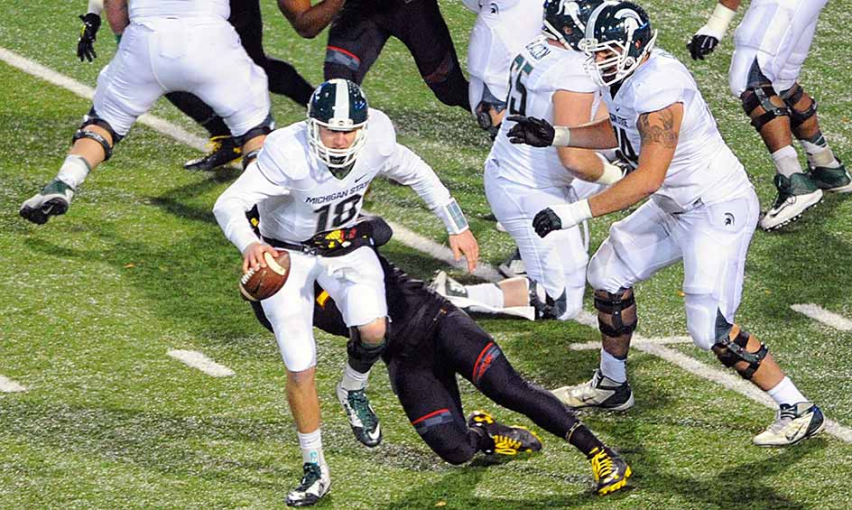 Michigan State 24, Maryland 7: Michigan State easily disposed of Maryland, but the win came at a price. Starting quarterback Connor Cook left the game at halftime after suffering a shoulder injury.