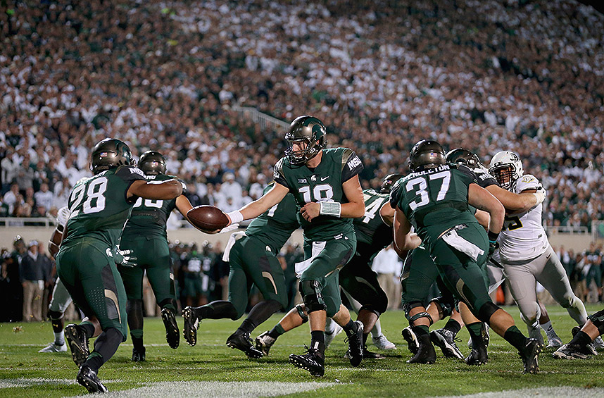Michigan State 31, Oregon 28: The Spartans avenged their 2014 loss to the Ducks by holding off Oregon at home in a thriller.