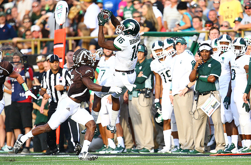 Michigan State 37, Western Michigan 24: The Spartans kicked off the year with a  20-point first quarter and didn't look back against the Broncos.