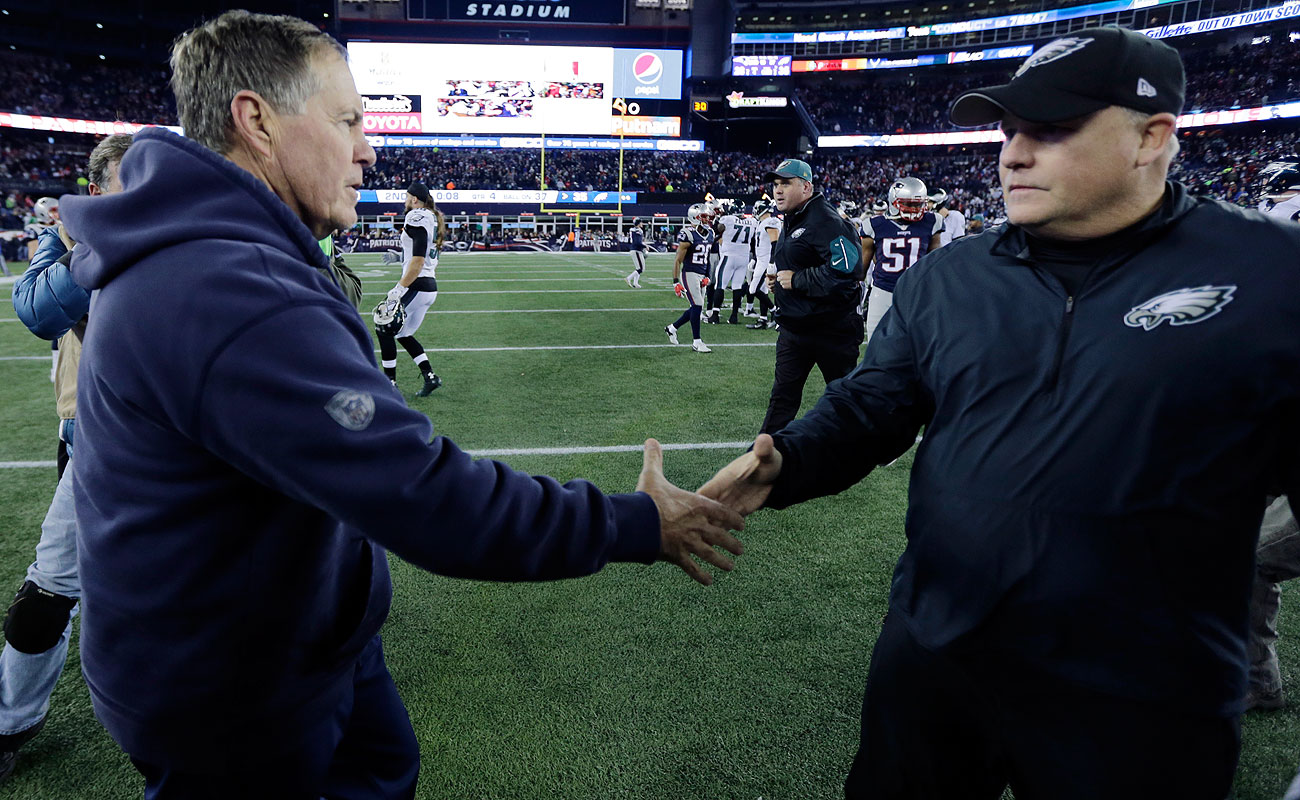 Chip Kelly's Eagles got the better of Bill Belichick's Patriots on Sunday.