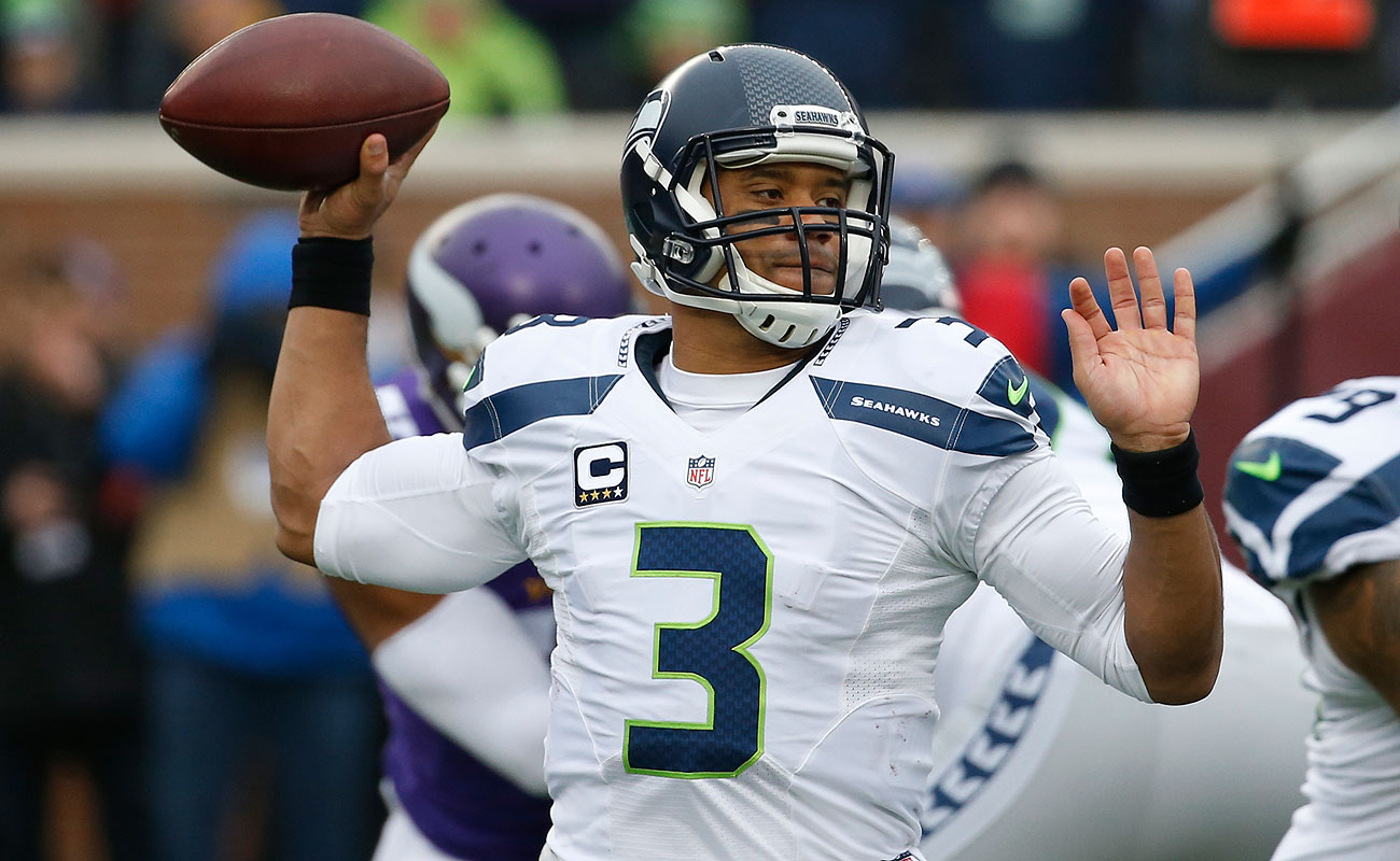 Russell Wilson's Seahawks would slip in as the NFC's No. 6 seed if the NFL playoffs started today.