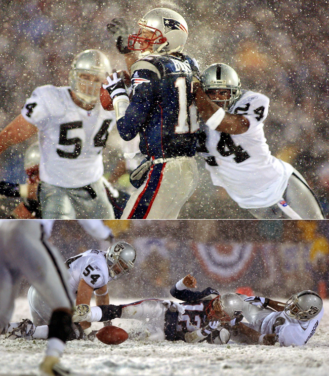 Charles Woodson says he has never spoken with Tom Brady, a fellow Michigan alum, about the Tuck Rule game.