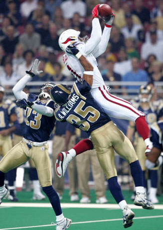 Fitzgerald's first NFL catch came against Hall of Fame cornerback Aeneas Williams in 2004.