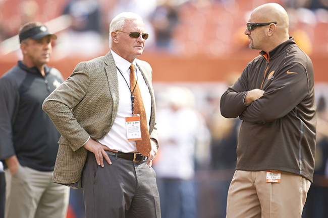 Jimmy Haslam and Mike Pettine