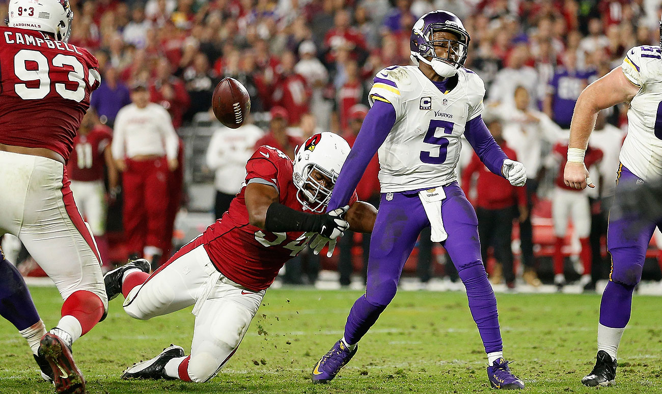 Dwight Freeney's strip sack of Teddy Bridgewater with five seconds remaining sealed the Cards' win.