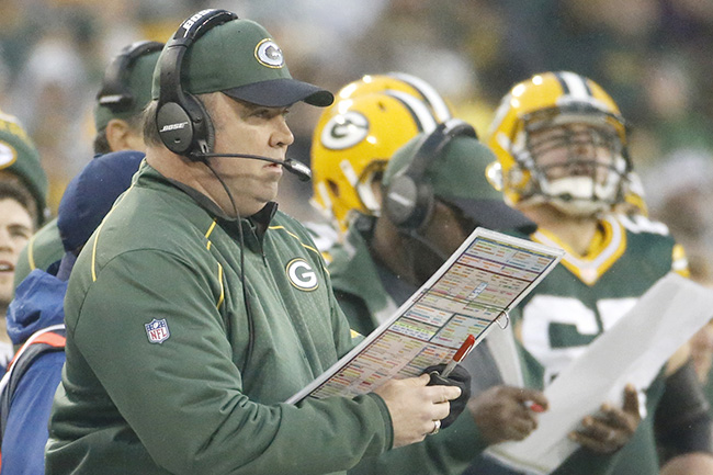 McCarthy was calling plays for the first time this season.