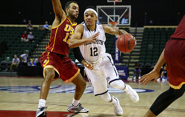 Justin Robinson has been Monmouth's on-court star and has given the bench plenty of cause for celebration this season.