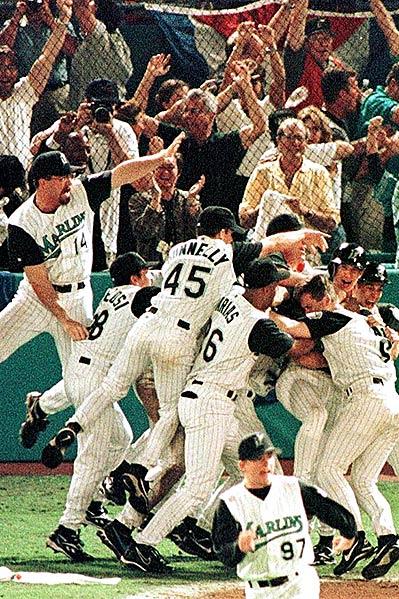Marlins win 1997 World Series