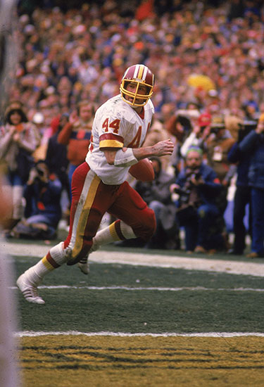 Washington Redskins John Riggins #44 scoring TD vs San Francisco 49ers.