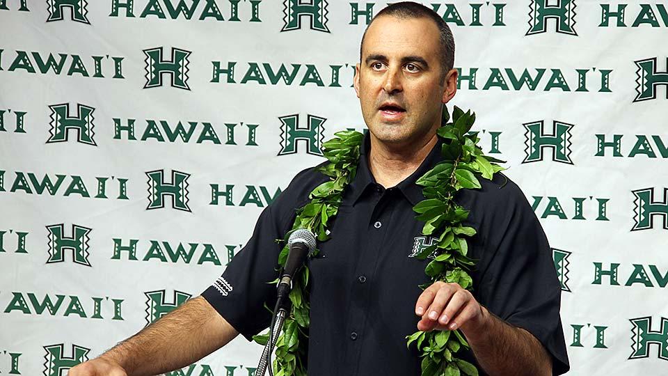 New Hawaii head coach Nick Rolovich