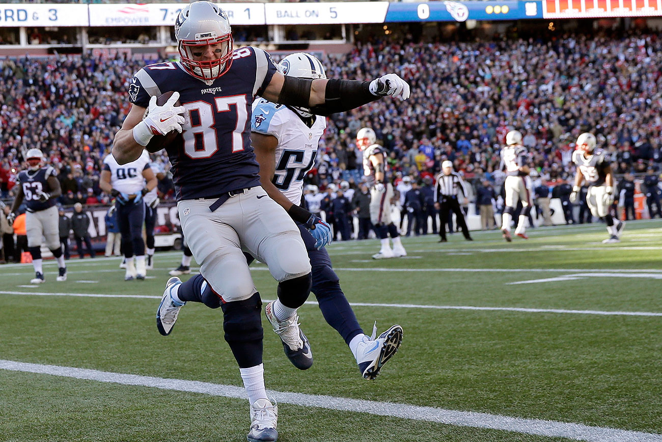 Rob Gronkowski has double-digit touchdowns in each of his first six seasons, save 2013 when he missed nine games with a knee injury.