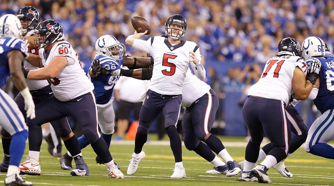Brandon Weeden, a Cowboy to start the season, is the fourth quarterback the Texans have played in 2015.
