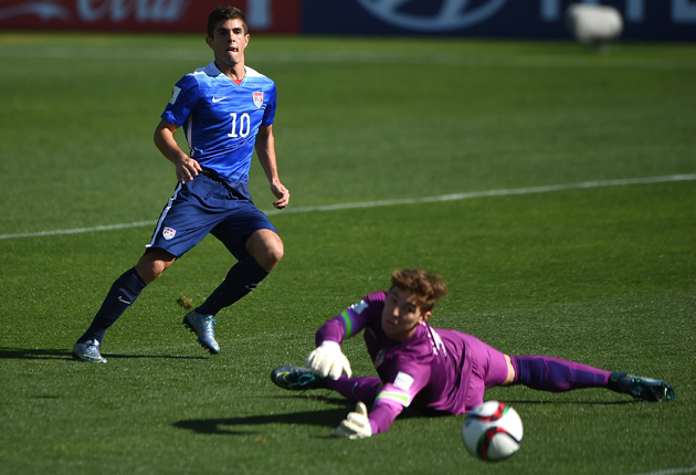 USA U-17 midfielder Christian Pulisic