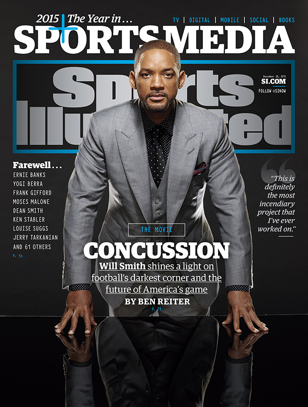 sports illustrated cover will smith concussion movie