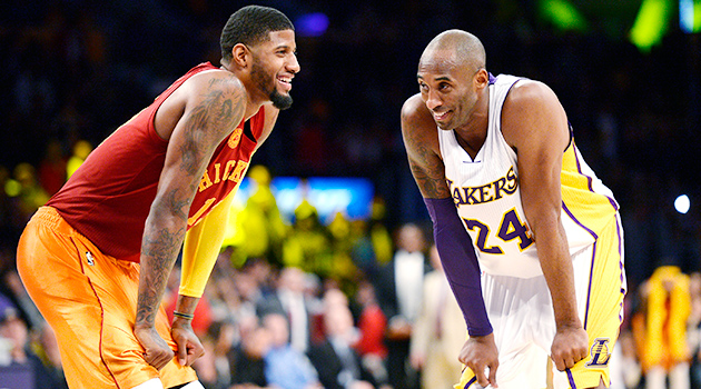 Kobe Bryant Paul George Lakers Pacers