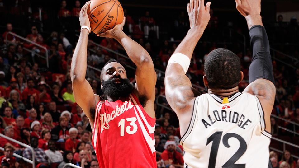 James Harden NBA Christmas Day Rockets Spurs