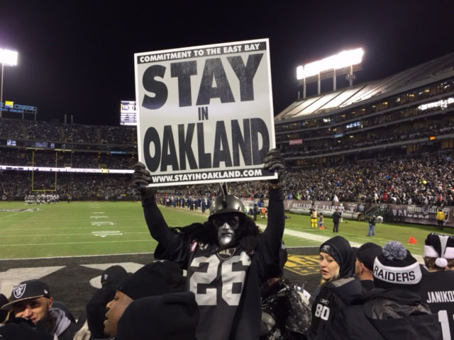 Ray Perez (aka Dr. Death) is one of thousands of Raiders fans who want to see the team remain in Oakland.
